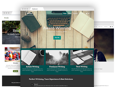 An array of easy–to–redesign website templates